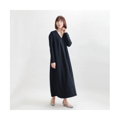 MARTHA(マーサ) Vネックフレアロングワンピース (ワンピース)Dress