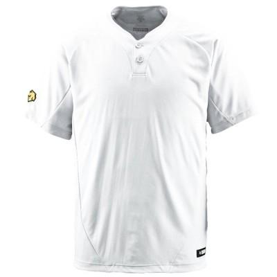 DESCENTE(デサント) 野球 2ボタンTシャツ Sホワイト Sサイズ DB201