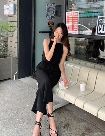 韓國空運 - Lelly*string Sleeveless Jumpsuit 長褲