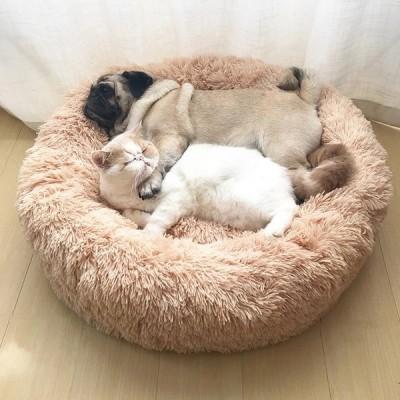 ペットマット ベッド 猫 犬 Lサイズ 70cm ラウンドクッション 80623
