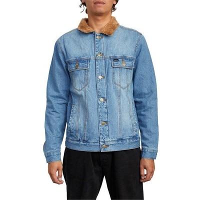 ルーカ メンズ ジャケット・ブルゾン アウター RVCA Daggers Denim Sherpa Jacket