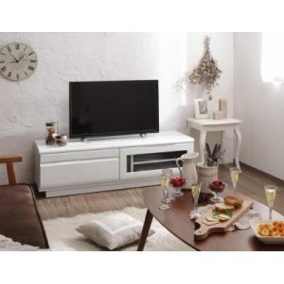 完成品 シンプルデザイン テレビボード 〔WHITV〕ホワイティヴィ 幅120 シャインホワイト