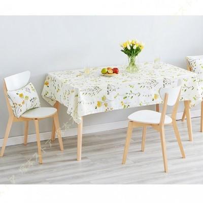 テーブルクロス 田園風 撥水加工 汚れ防止 テーブルカバー リネン 長方形 綿麻生地 お手入れ簡単 テーブルマット インテリア 食卓カバー 綿麻 装飾 パーティー