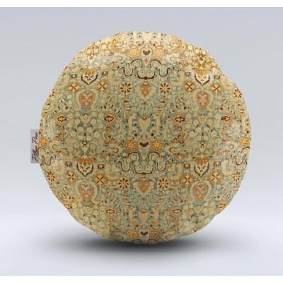 クッションカバー おしゃれな 丸形 ソファーや ベットに 高品質生地 ペルシャ絨毯柄 クラシックシリーズ