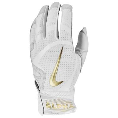 即納 ナイキ メンズ 野球 Nike Huarache Elite Batting Gloves バッティンググローブ White/White/White