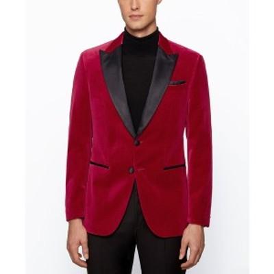 ヒューゴボス メンズ ジャケット&ブルゾン アウター BOSS Men's Helward4 Slim-Fit Tuxedo Jacket Dark Red