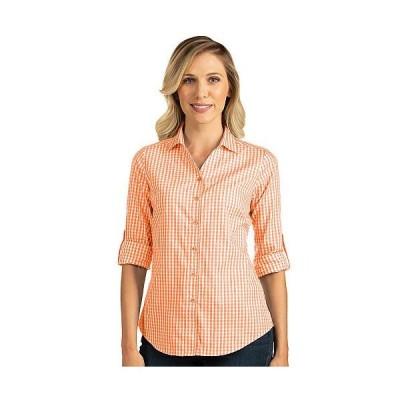 レディース 衣類 トップス Antigua Women's Structure Button down Woven Shirt L Mango/White ブラウス&シャツ