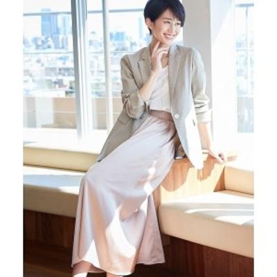 自由区 S(JIYUKU S)/【マガジン掲載】グロッシーサテン ロングスカート(検索番号F33)