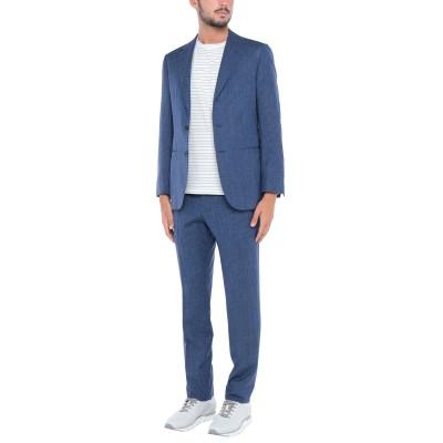 サルトリオ SARTORIO スーツ ダークブルー 44 ウール 70% / シルク 15% / 麻 15% スーツ