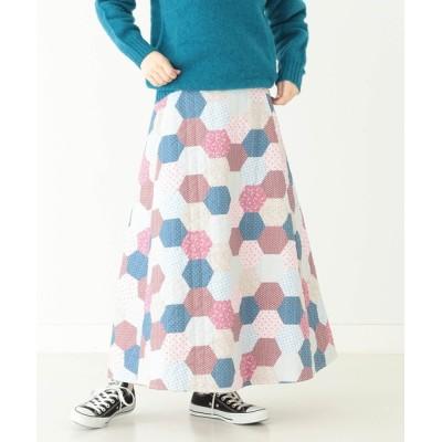 BEAMS WOMEN / BEAMS BOY / パッチワーク キルティング スカート WOMEN スカート > スカート