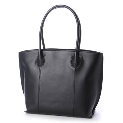 サビーナドンナ Sabina Donna 【日本製】 牛革 軽量 シンプルトートバッグ スムースレザー (ブラック)
