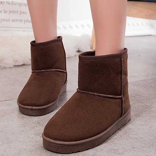 雪靴簡約可愛保暖厚底短靴