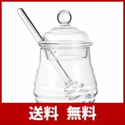 WINOMO ハニーポット 蜂蜜 ディスペンサー はちみつ 蜂蜜ボトル はちみつ容器 透明 蓋付き 250ml 家庭用 キッチン用