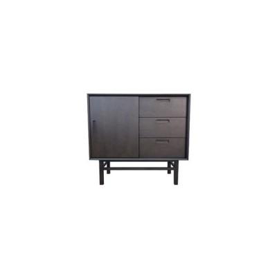 大塚家具 サイドボード 「フィル」 幅90cm オーク材 ダークブラウン色