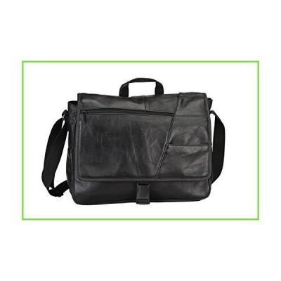 """15.4"""" Laptop Computer Leather Messenger Bag- Black【並行輸入】【新品】"""