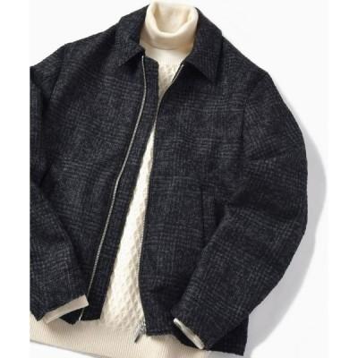 ジャケット ブルゾン SC: ウール リングヤーン ツイード ブルゾン