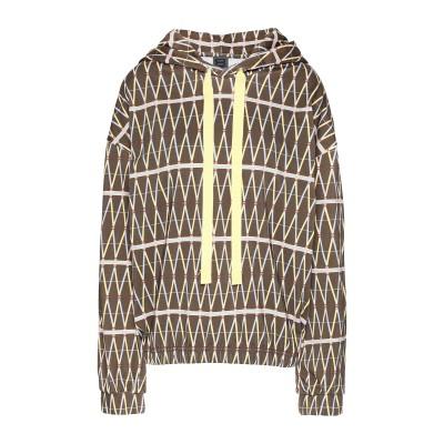 8 by YOOX スウェットシャツ ブラウン XS コットン 100% スウェットシャツ