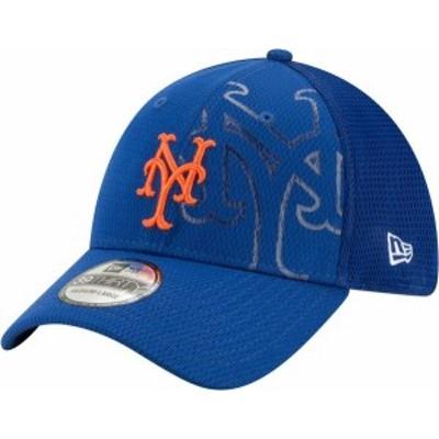 ニューエラ メンズ 帽子 アクセサリー New Era Men's New York Mets Blue 39Thirty Tonel Neo Stretch Fit Hat
