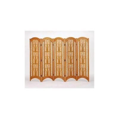 間仕切り家具 パーテーション 籐スクリーン5パネル H155 ブラウン色 IMB714 アジアン ついたて衝立 今枝商店 籐