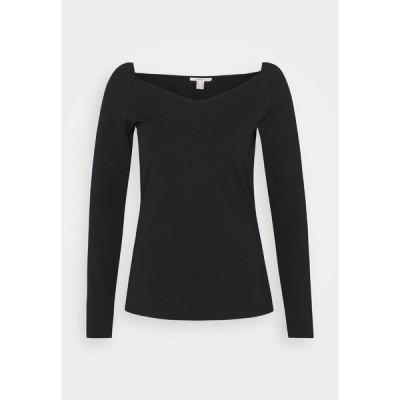 イー ディ シー バイ エスプリ カットソー レディース トップス Long sleeved top - black