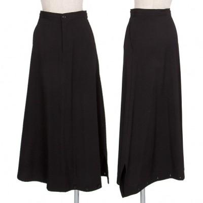ワイズY's ウールギャバ裾ボタンペンギンパンツスカート 黒2 【レディース】