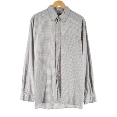 ラルフローレン Ralph Lauren 長袖 ボタンダウンチェックシャツ メンズXL /eaa090456