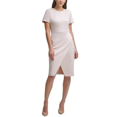 カルバンクライン ワンピース トップス レディース Petite Side-Wrap Sheath Dress Blossom