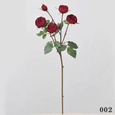 《 造花 》◆とりよせ品◆Asca(アスカ) ロ-ズ×4 つぼみ×1 レッド