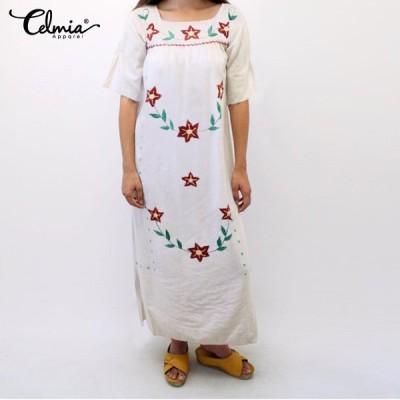 サンドレス ビンテージ カジュアル 襟 フローラル