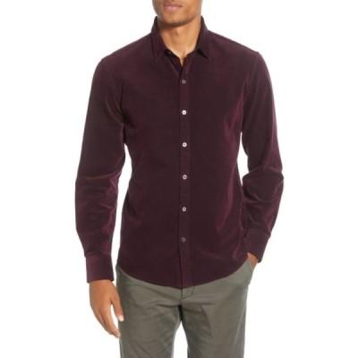 ザッカリープレル メンズ シャツ トップス Akiti Regular Fit Button-Up Corduroy Shirt WINE