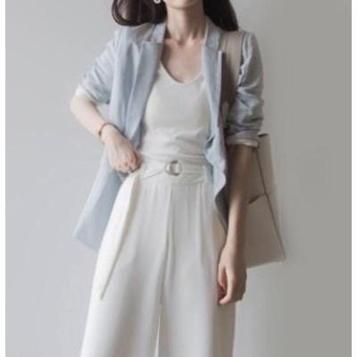 レディース 大きいサイズ テーラードジャケット アウター 羽織 ゆったりめ シンプル きちんと感 上品 通勤 オフィスカジュアル