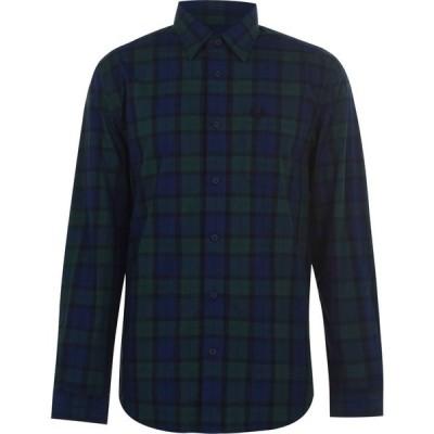 フレッドペリー Fred Perry メンズ シャツ トップス Fred Buttoned Tartan Shirt Trtn Grn