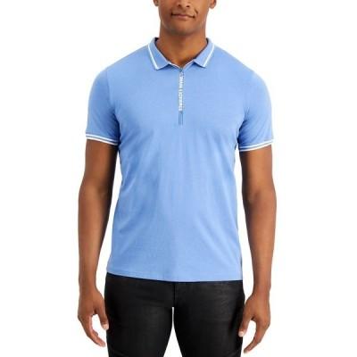 アルマーニ ポロシャツ トップス メンズ Men's Logo Zip-Up Polo Riveria