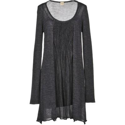LUCKYLU  Milano ミニワンピース&ドレス 鉛色 IV アクリル 50% / ウール 25% / 毛(アルパカ) 15% / ナイロン