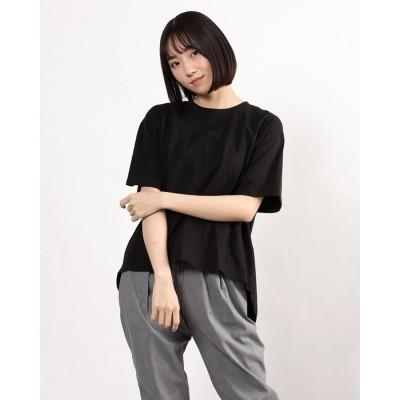 プーマ PUMA レディース 半袖Tシャツ HER オープンバック SS Tシャツ 588461 (ブラック)