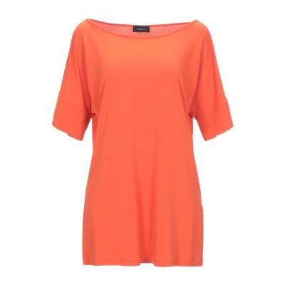 MALAICA T シャツ 赤茶色 44 レーヨン 70% / ポリエステル 30% T シャツ