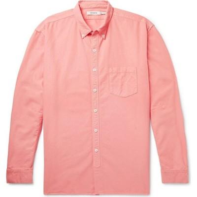 ノンネイティブ NONNATIVE メンズ シャツ トップス solid color shirt Coral