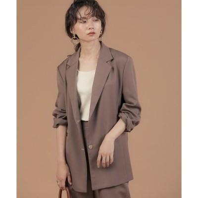 ジャケット テーラードジャケット 【WEB限定】セットアップ対応可◆配色ステッチテーラードジャケット