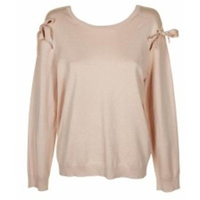 DKNY ダナキャランニューヨーク ファッション トップス Dkny Blush Tied Cold-Shoulder Crew Neck Sweater XL