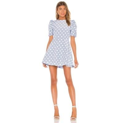 マジョレル MAJORELLE レディース ワンピース ミニ丈 ワンピース・ドレス Cordella Mini Dress Baby Blue Dot