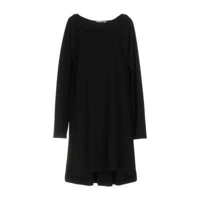 NOME COMUNE ミニワンピース&ドレス ブラック 44 ポリエステル 100% ミニワンピース&ドレス