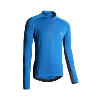 KORAMAN メンズ 長袖 サイクリングジャージ 親指穴付き 速乾 バイク サイクリングシャツ