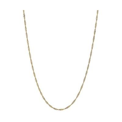 14k ソリッド イエロー ゴールド Singapore Rope チェーン ネックレス 1.5 Mm 24 インチ(海外取寄せ品)