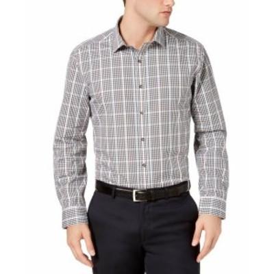ファッション ドレス Bar III NEW Black Mens Size Large L 16-16 1/2 Stretch Dress Shirt