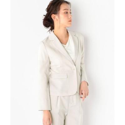 【ミューズ リファインド クローズ】 ウォッシャブル接触冷感テーラードジャケット レディース グレージュ M MEW'S REFINED CLOTHES