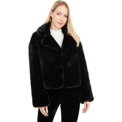 ラブトークン Love Token レディース コート ファーコート アウター Henry Short Faux Fur Coat Black