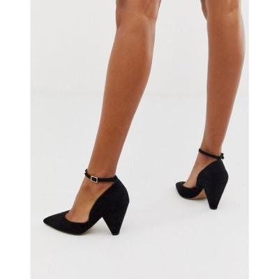 エイソス ASOS DESIGN レディース ヒール シューズ・靴 Speak Out pointed mid-heels in black ブラック