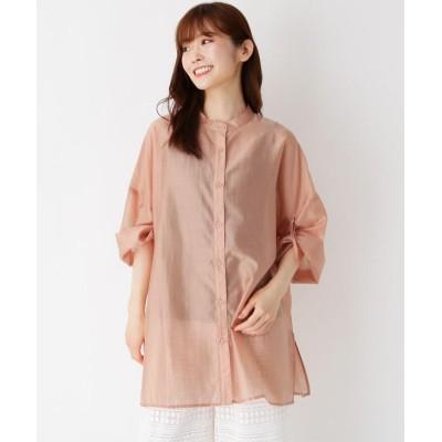 ZAMPA(ザンパ) 袖ロールアップバンドカラーシャツ