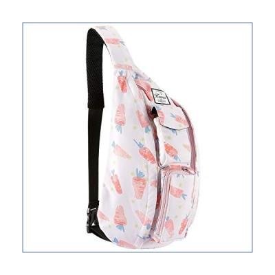 kamo スリングバッグ ファッション キュート シングルストラップ クロスボディパック ハイキング 多目的 デイパ