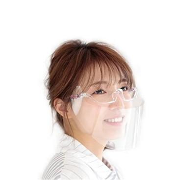 伊藤光学工業 Movable Mask 可動式マウスシールド ピンク(会食対応マウスガード、防曇加工、メガネ併用可)